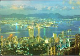 China - Circa 1970 - Postcard - Hong Kong Nigth Scene  - A1RR2 - Cina (Hong Kong)