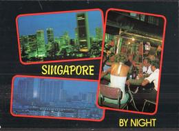 Singapore - Circa 1970 - Postcard - Singapore By Nigth - A1RR2 - Singapore
