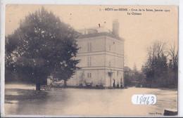 MERY-SUR-SEINE- CRUE DE LA SEINE- 1910- LE CHATEAU INONDE - Autres Communes