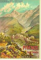 Les Pyrénées - Eaux Bonnes  - Publicité Pour Chemin De Fer D'Orleans - Artiste: Trinquier-Trianon  - CPM - Publicidad