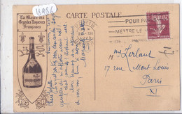 PUBLICITE- LA VIEILLE CURE- GLOIRE DES GRANDES LIQUEURS FRANCAISES- RECTO CARTE DE PARIS NOTRE-DAME - Publicidad