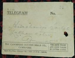 Textile, Cotton, Spinning, Industry, Cloths, Costume, Telegram Envelope, India - Textile