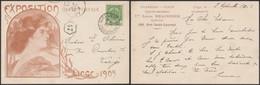 Carte Postale - Exposition Universelle Et Internationale De Liège 1905 : Illustration + PUB / Voyagée - Liège