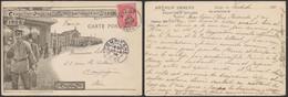 Carte Postale - Exposition Universelle Et Internationale De Liège 1905 : Les Chemins De Fer / Voyagée - Liège
