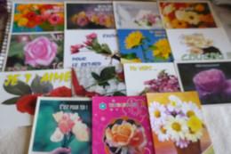 LOT DE 15 CARTES MESSAGES ...AVEC DES FLEURS - 5 - 99 Postcards