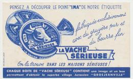 Buvard 17.5 X 10.4 LA VACHE SÉRIEUSE Fromage Crème De Gruyère Double Crème Point IMA Boite - Dairy