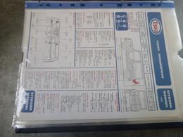 Fiche Technique Et Descriptive Recto Verso  Ancienne   Modèle Vintage  Citroen Mehari - Auto's