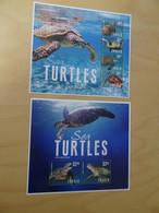 Tuvalu Michel 2053/56 + Bl. 225 Schildkröten Postfrisch (14107H) - Schildkröten
