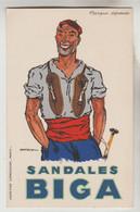 CPSM PUBLICITE CHAUSSURES ILLUSTRATEUR DEANSY - SANDALES BIGA MAULEON LICHARRE (Pyrénées Atlantiques) - Publicidad