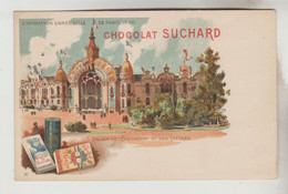 CPA PIONNIERE PUBLICITE EXPOSITION UNIVERSELLE PARIS 1900 - CHOCOLAT SUCHARD : Palais De L'Education Et Des Lettres - Publicidad