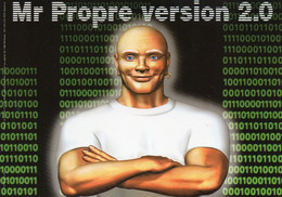 CPM - M - PUBLICITE POUR LE NETTOYANT MR PROPRE VERSION 2.0 - VOUS AVEZ ESSAYE MES LINGETTES ? - Publicidad