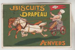 CPSM PUBLICITE PRODUITS ALIMENTAIRES - BISCUITS DRAPEAU à ANVERS (Belgique) - Publicidad