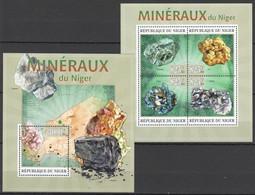 ST2794 2013 NIGER NATURE MINERALS MINERAUX KB+BL MNH - Minerales