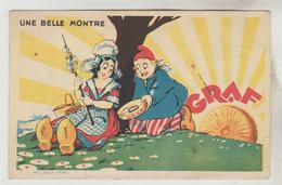 CPSM PUBLICITE PRODUITS ALIMENTAIRES - CREME DE GRUYERE DOLE (Jura) Une Belle Montre - Publicidad