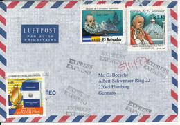 El Salvador Air Mail Cover Sent Express To Germany 1997 (received In Germany 4-11-1997) - El Salvador