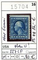 USA 1916 - Etats-Unis - Michel 227 CP - (*) Ohne Gummi - No Gum - Sans Gomme - Unused Stamps