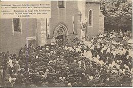 X124220 NIEVRE NEVERS 3 AOUT 1925 TRANSLATION CORPS BIENHEUREUSE BERNADETTE LA FOULE ATTEND POUR ENTRER  CHAPELLE - Nevers