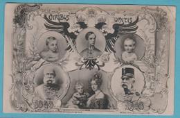 VIRIBUS UNITIS 1848-1908 60.jähriges Regierungsjubiläum Kaiser Franz Josef. - Royal Families