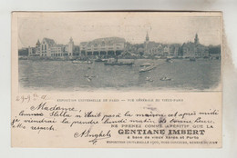 CPA PIONNIERE PUBLICITE BOISSON - GENTIANE IMBERT : EXPOSITION UNIVERSELLE PARIS 1900, Vue Générale Vieux Paris - Publicidad
