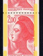 RT83 Liberté De Gandon 1.80F Rouge Bande De 11 Timbres ** Phosphore Décalé Verticalement Cote +de 16€ - Coil Stamps