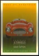 """Carte Postale édition """"Dix Et Demi Quinze"""" - Concours Automobiles Classiques Et Louis Vuitton - Parc De Bagatelle - Publicidad"""