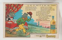 CPSM PUBLICITE PRODUIT ALIMENTAIRE FABLE LA FONTAINE - HUILE DE TABLE DES CHARTREUX : Le Rat De Ville Et Le Rat Des Cha - Publicidad