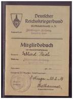 Dt- Reich (022069) Mitgliedesbuch Deutscher Reichskriegerbund (Kyffhäuserbund) Kameradschaft Haigerloch-Land - Covers & Documents