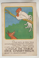 CPSM PUBLICITE PRODUIT ALIMENTAIRE FABLE LA FONTAINE - HUILE DE TABLE DES CHARTREUX : Le (coq) Et Le Renard - Publicidad