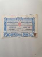 "GRECE GREECE  SHARE "" DE PRODUITS ET ENGRAIS CHIMIQUES "".ATHENS 1909. WITHOUT COUPONS . X2 ( 2 PIECES) . VERY GOOD CON. - Ohne Zuordnung"