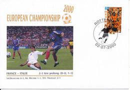 Netherlands Cover UEFA European Championship Soccer Football 2000 France - Italy 2-1 Nice Cachet - UEFA European Championship