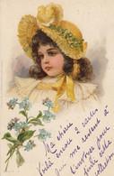 Jeune Fille, Un Bouquets De Fleurs - TTB - 1900 - Otros