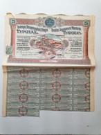 "GRECE GREECE  SHARE ""SOCIETE ANONYME DE MINOTERIE "".EVROTAS 1926 WITH 37 COUPONS  . VERY GOOD CON. - Ohne Zuordnung"