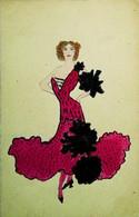 ►  CPA  Vers 1910 (Peinte à La Main)    Illustration Femme Art Nouveau Mode - Fashion