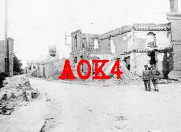 62 DOUVRIN Occupation Allemande Ruines Eglise Nordfrankreich BIR 18 Auchy La Bassee Hulluch - Altri Comuni