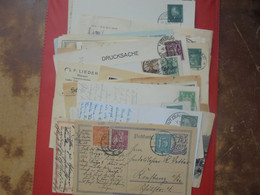 DEUTSCHES REICH+WEIMAR+3eme REICH LOT 55 DOCUMENTS DONT ENTIERS POSTAUX .PETIT PRIX-A SAISIR !!! - Stamped Stationery