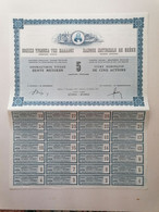"""GRECE GREECE  SHARE """"BANQUE NATIONALE DE GRECE """".ATHENS 1962 WITH ALL COUPONS ( NON MISSING). VERY GOOD CON. - Ohne Zuordnung"""