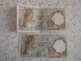 """Plusieurs Lots"" Billet Banque De France 100 Francs Sully Lot N°10 Soit 2 Billets - 100 F 1939-1942 ''Sully''"