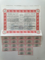 """GRECE GREECE  SHARE """"ANONYMOUS MARITIME COMPANY OF NAXOS"""".NAXOS 1973 WITH 21 COUPONS . VERY GOOD CON. - Ohne Zuordnung"""