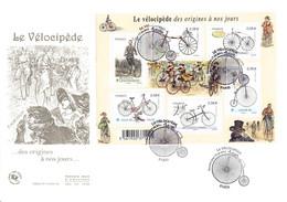 FDC GF JF - Bloc Le Vélocipède, Oblit 17/6/2011 Paris - 2010-....