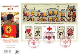 FDC GF JF - Bloc Croix Rouge 2012, Oblit 8/11/2012 Paris - 2010-....