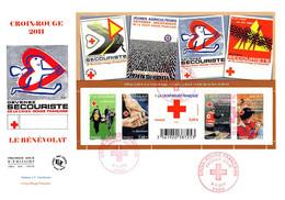 FDC GF JF - Bloc Croix Rouge 2011, Oblit 4/11/2011 Paris - 2010-....
