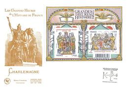 FDC GF JF - Bloc Les Grandes Heures De L'histoire De France, Oblit Paris 10/4/15 - 2010-....