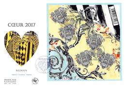 FDC GF JF - Bloc Coeur Balmain 2017, Oblit 20/1/2017 Paris - 2010-....