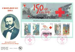 FDC GF JF - Bloc Croix Rouge 2014, Oblit 7/11/2014 Paris - 2010-....