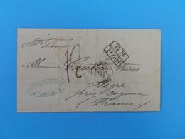 MARQUE POSTALE DE BAHIA A AIGRE DU 18 MARS 1872 (MARQUE D'ECHANGE 1F 60c) - 1849-1876: Période Classique