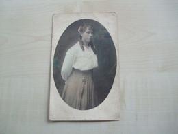 Carte Photo Ancienne Colorisée FEMME Photographe TORFS HEIST OP DEN BERG - Women