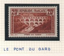 Sites Et Monuments 1929 Pont Du Gard - Type I - Chaudron - Neuf - Trace De Charnière Au Dos - Ungebraucht