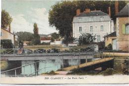 58 - CLAMECY Les Ponts Verts Colorisée écrite - Clamecy