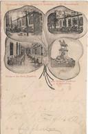 Speldorf, Mühlheim/Ruhr, Restaurant Jägerhof, A.W. Montenbruck, Jugendstilkarte, Poststempel Duisburg 1901 - Muelheim A. D. Ruhr