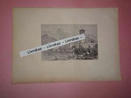 Gravure 1893, Trente, Trento, Trient, Haut-Adige, Italie, Alpes, Lavandières, Lavage Du Linge, Très Bon état - Other